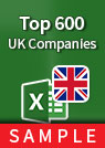 Top 600 UK Companies [FTSE All-Share] – Excel Download sample