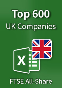 Top 600 UK Companies [FTSE All-Share] – Excel Download