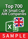 Top 700 Small-Cap UK Companies [FTSE AIM All-Share] – Excel Download sample
