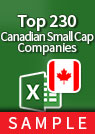 Top 230 Canadian Small-Cap Companies – Excel Download sample