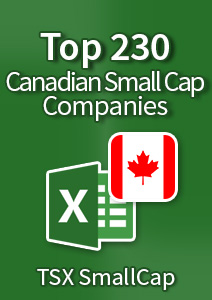 Top 230 Canadian Small-Cap Companies [TSX SmallCap] – Excel Download