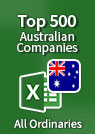 Top 500 Australian Companies [All Ordinaries] – Excel Download