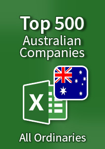 Top 500 Australian Companies [All Ordinaries] – Excel Download
