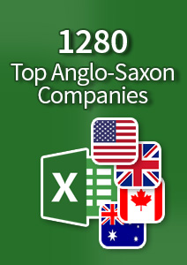 1280 Top Anglo-Saxon Companies - Excel Spreadsheet