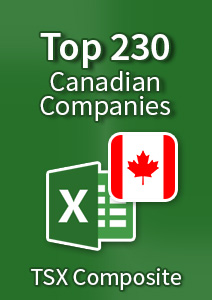 Top 230 Canadian Companies - Excel Spreadsheet