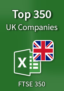 Top 350 UK Companies – Excel Spreadsheet